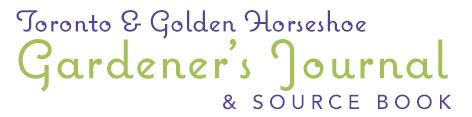 Toronto & Golden Horseshoe Gardener's Journal
